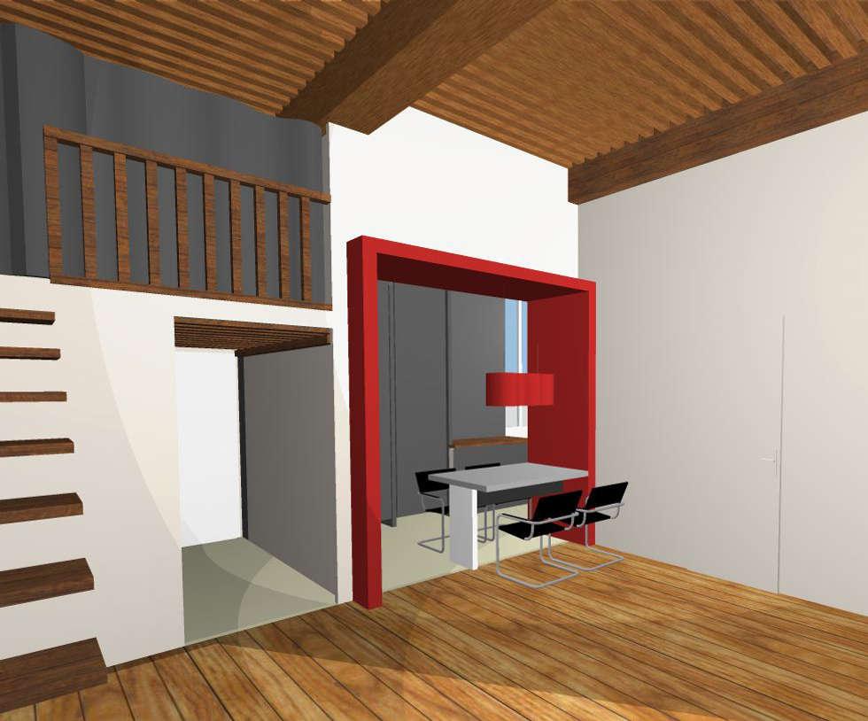 Visuel 3D: Salle à manger de style de style Moderne par Franck VADOT Architecture