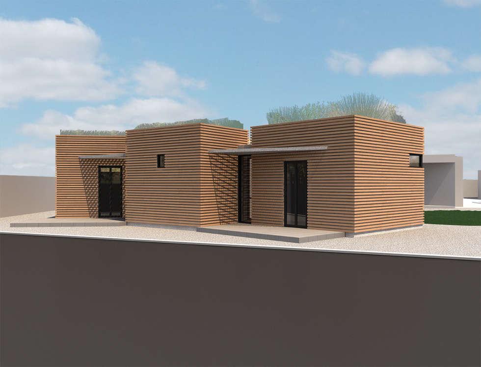 Model 3D: Maisons de style de style Moderne par MAURO LOMBARDO ARCHITECTE