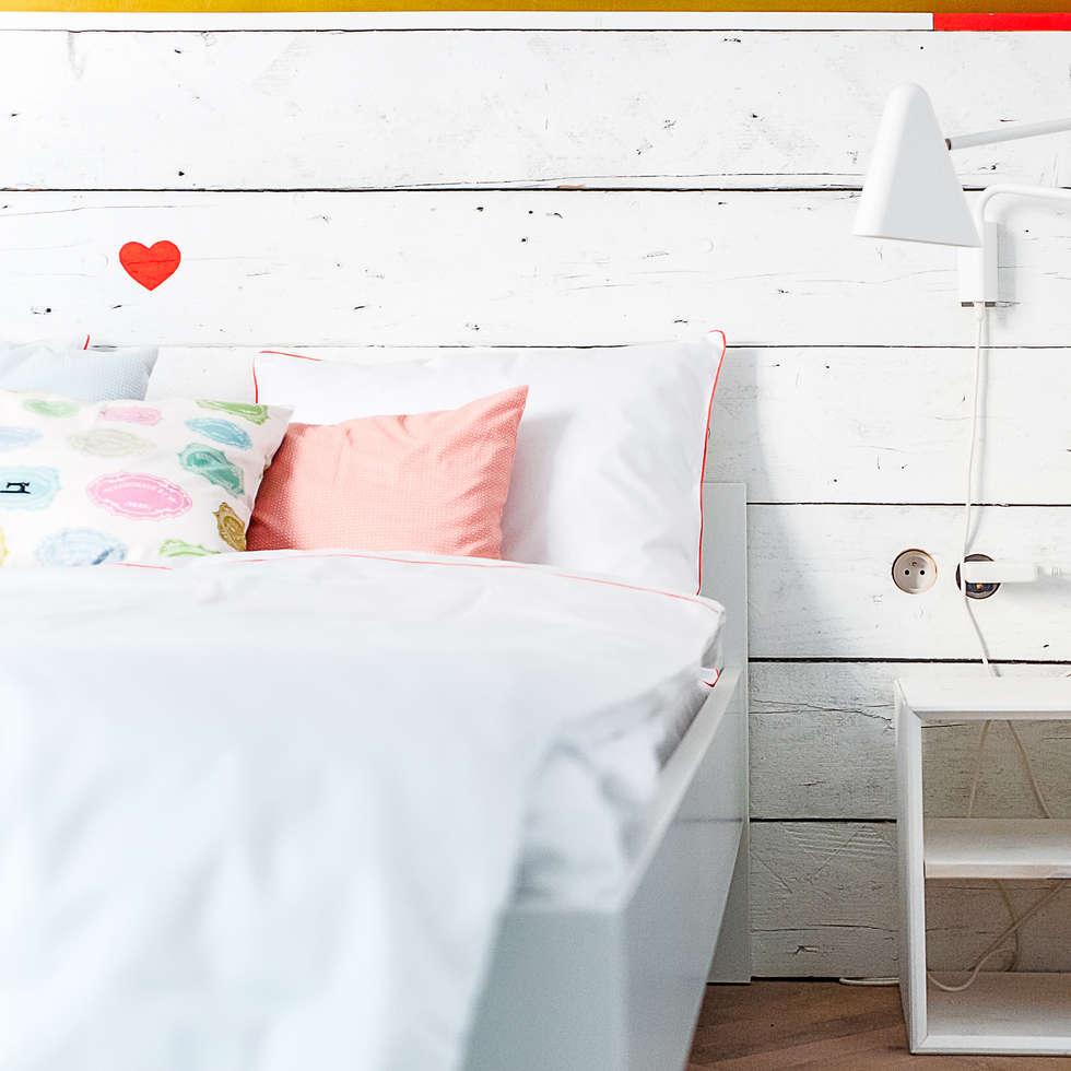 Komplet Pościeli Morgon: styl , w kategorii Sypialnia zaprojektowany przez Lilla Sky