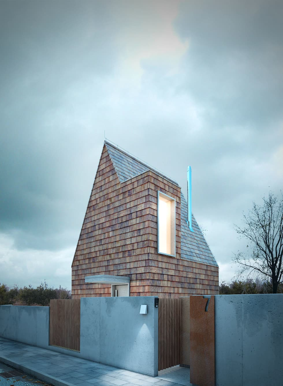 DOM MAŁY: styl minimalistyczne, w kategorii Domy zaprojektowany przez 90 stopni
