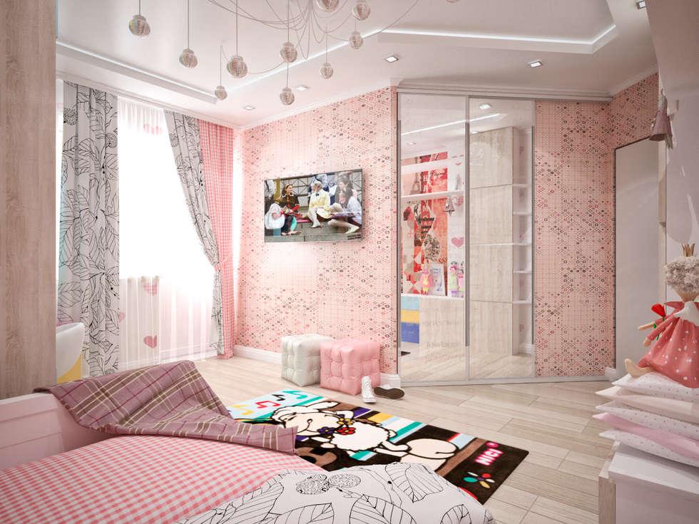 Четырехкомнатная квартира для молодой семьи : Детские комнаты в . Автор – Студия архитектуры и дизайна ДИАЛ