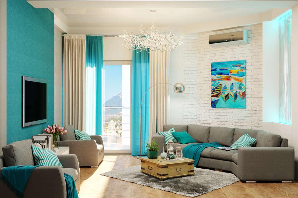 Moderne Wohnzimmer Bilder von Студия дизайна Interior ...