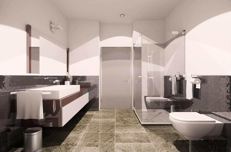 Guest house: Bagno in stile in stile Moderno di I-Render