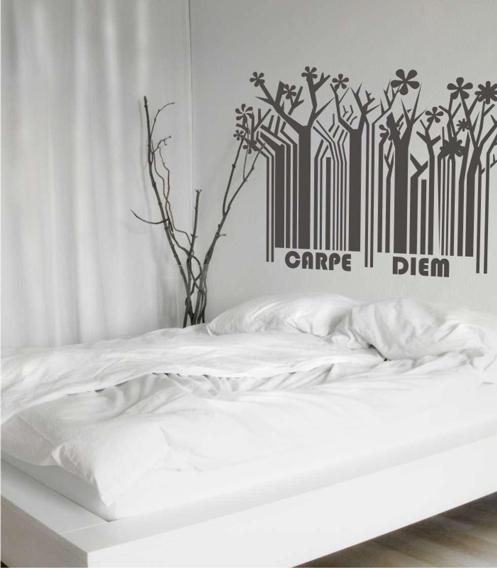 Interior design ideas redecorating remodeling photos for Vinilo cabecero cama