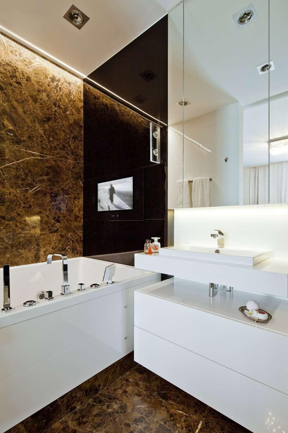 Łazienka pełna relaksu.: styl , w kategorii Łazienka zaprojektowany przez living box