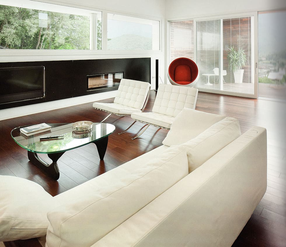 vista del soggiorno: Soggiorno in stile in stile Moderno di STUDIO ARCHITETTURA MASSIMO NODARI