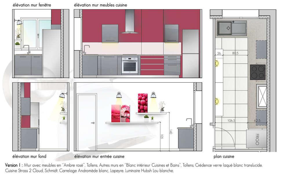 Projet de la cuisine: Cuisine de style de style Moderne par Chloé Bouvier | Architecte d'intérieur CFAI