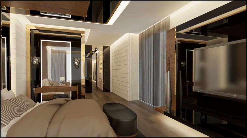 Nuevo Tasarım – Yatak odası: modern tarz Yatak Odası