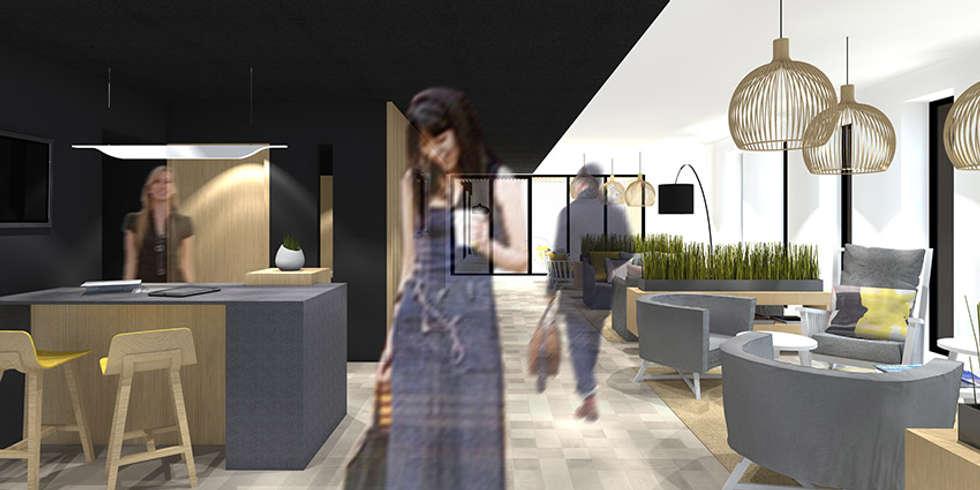 Hôtel SPA à Brest: Hôtels de style  par Trace & Associes architecture