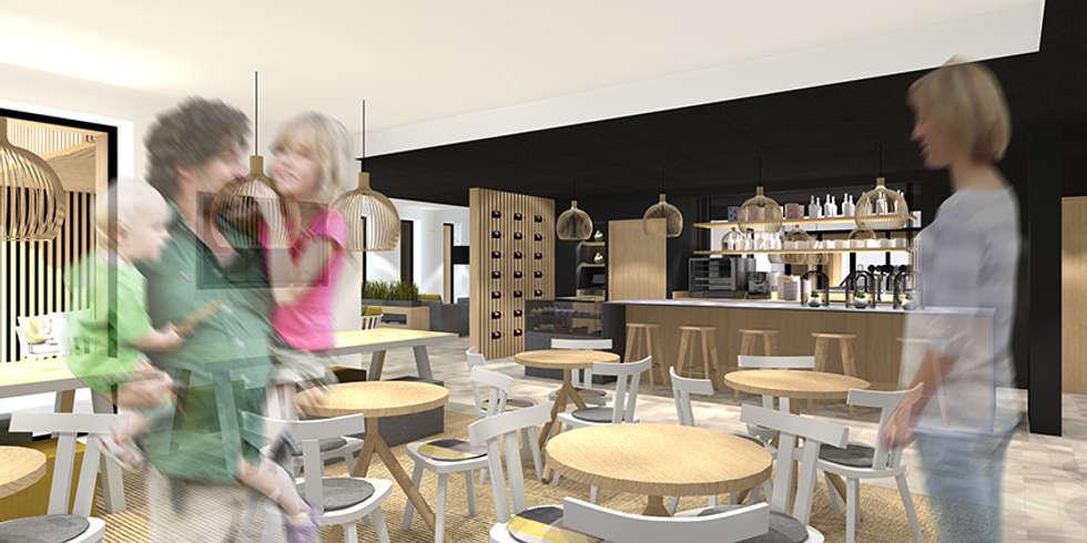 Bar de l'hôtel SPA à Brest: Hôtels de style  par Trace & Associes architecture