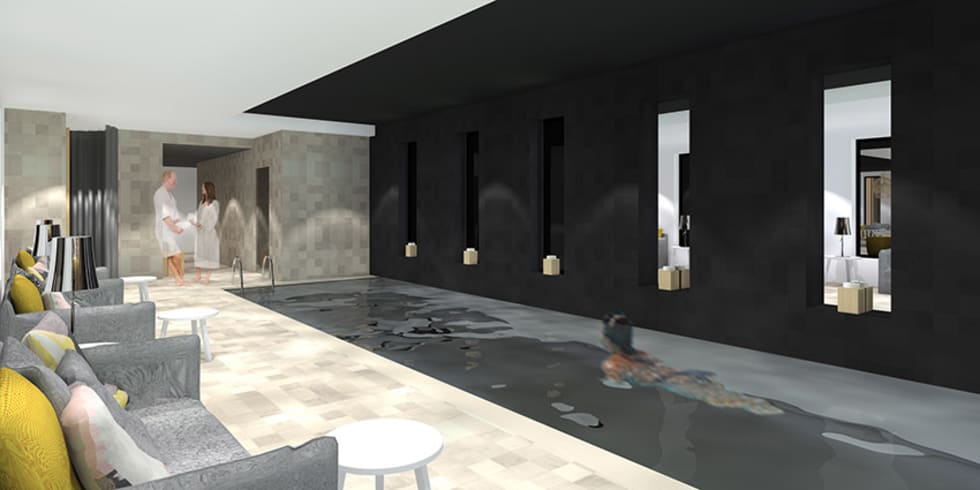 Piscine de l'hôtel SPA à Brest: Hôtels de style  par Trace & Associes architecture