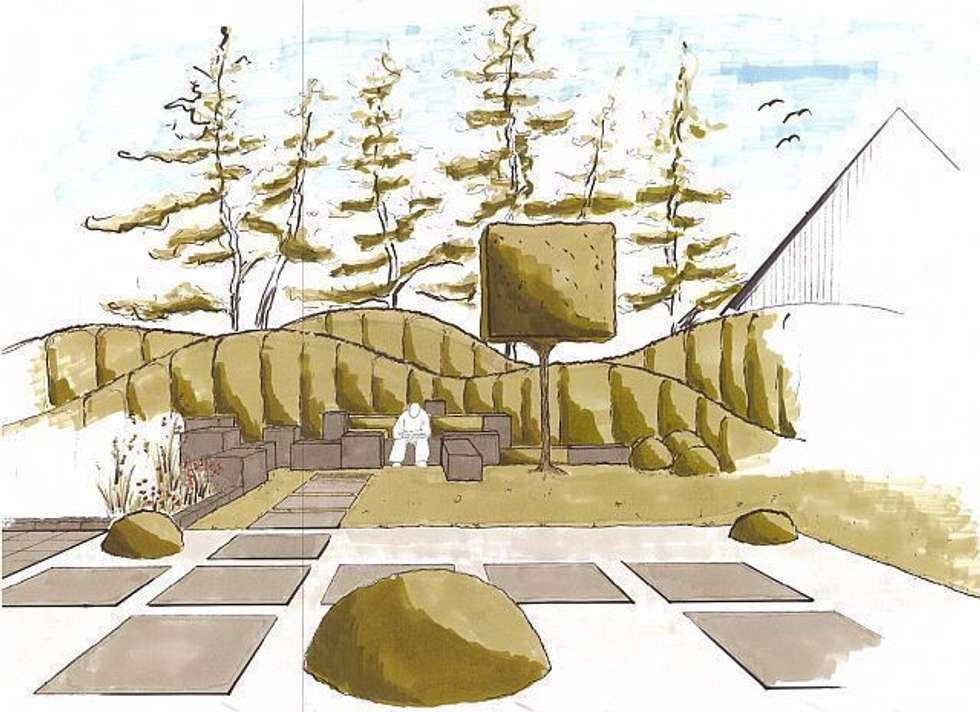 Gartenplanung: moderner Garten von Naturform Japangärten & Koiteichbau