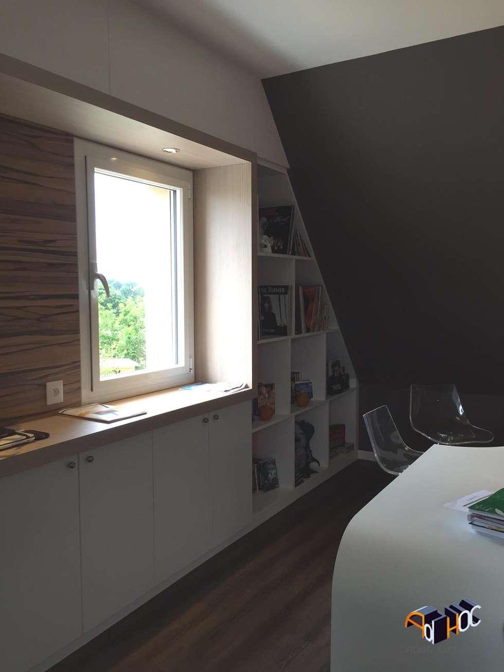 Architecture intérieur Brest - Rénovation d'un bureau: Chambre de style de style Moderne par Ad Hoc Concept architecture