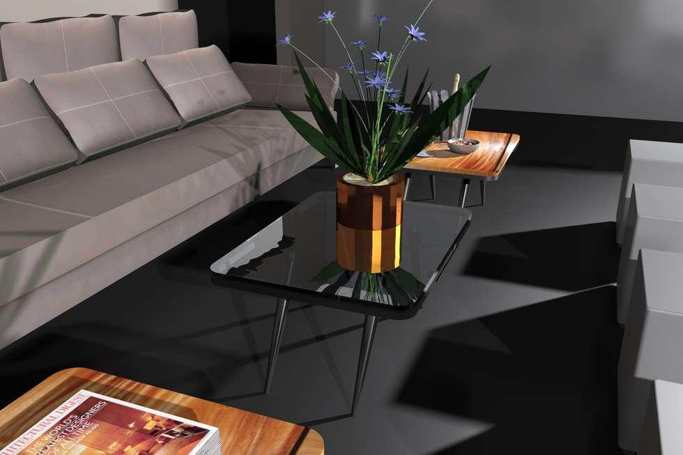 Pellegrini's Lounge Table: Salon de style de style Minimaliste par Alguma Coisa Design