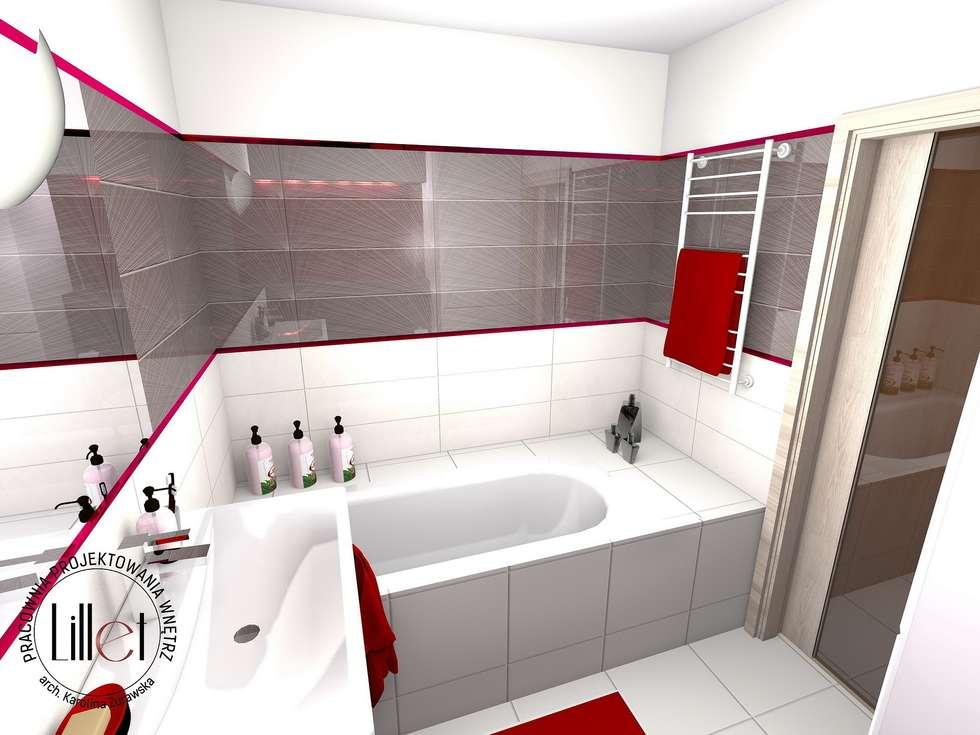 Łazienka : styl , w kategorii Łazienka zaprojektowany przez ATELIER LILLET Karolina Lewandowska