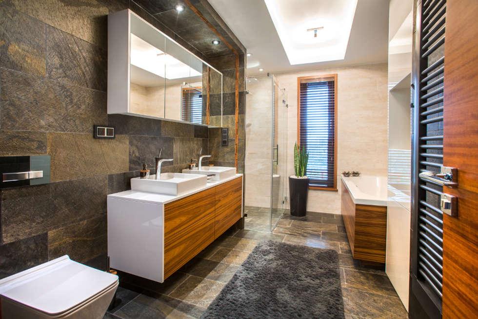 Główna łazienka: styl , w kategorii Łazienka zaprojektowany przez Viva Design - projektowanie wnętrz