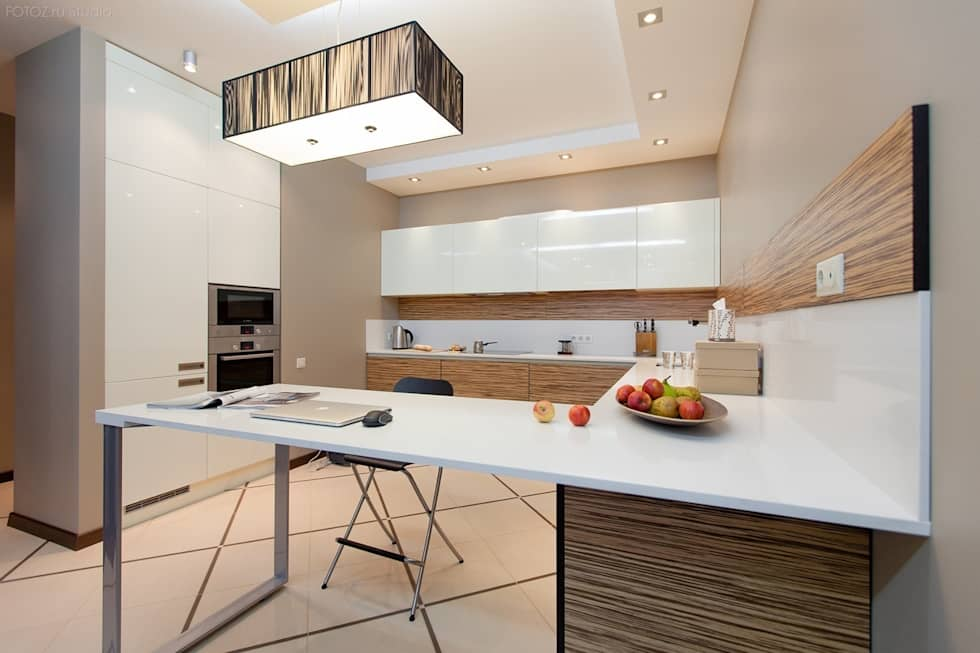 Вид на кухню : Кухни в . Автор – INTERIOR PROJECT studio
