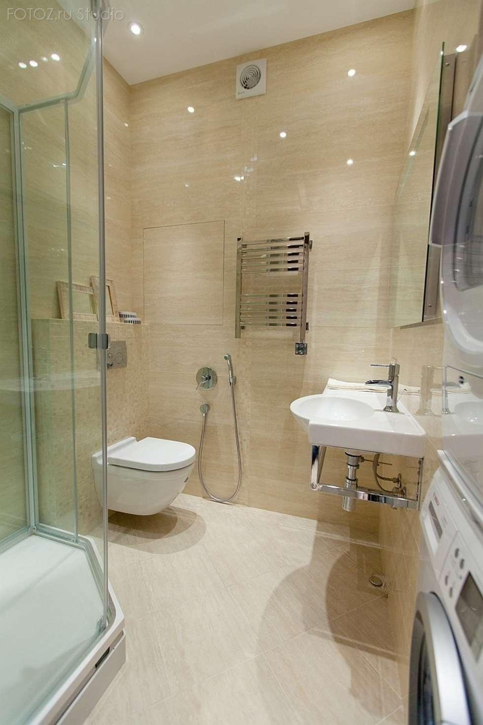 Санузел: Ванные комнаты в . Автор – INTERIOR PROJECT studio