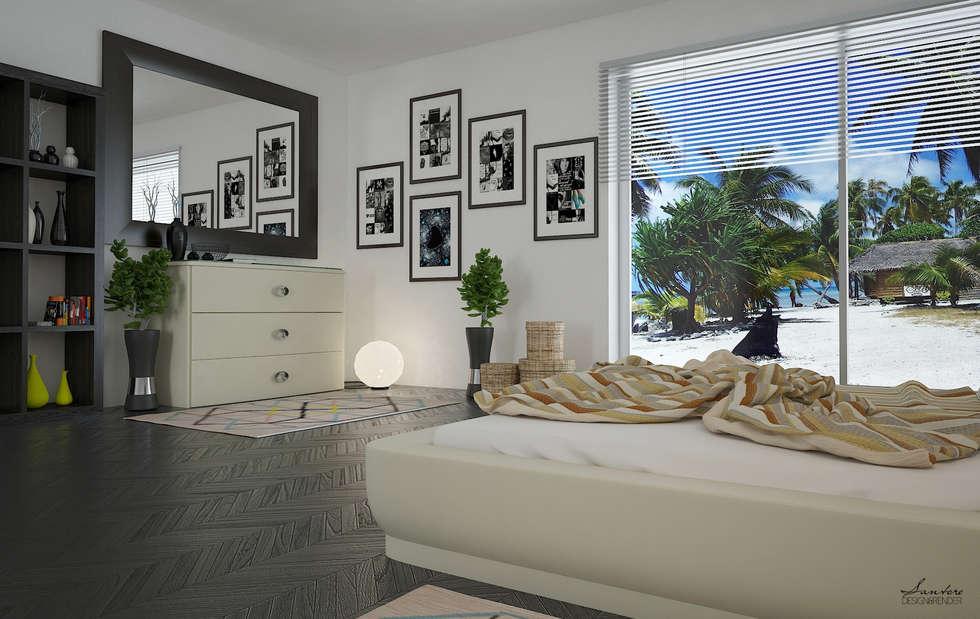 Render con disposizioni d'arredo e illuminazione: Hotel in stile  di Santoro Design Render