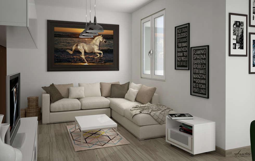 Render e soluzione: Soggiorno in stile in stile Moderno di Santoro Design Render