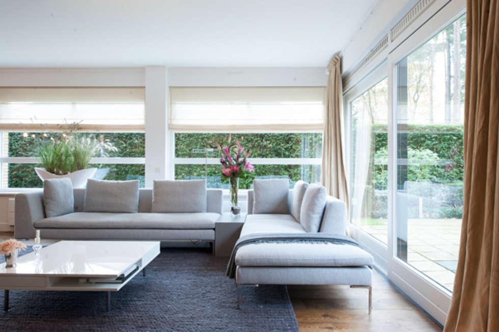 Interieuradvies benedenverdieping Zeist: moderne Woonkamer door Mood Interieur