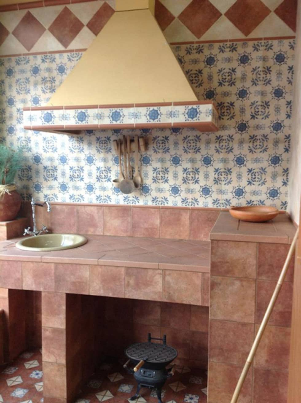 Azulejos cocina rusticos simple cocina rustica realizada - Campana extractora rustica ...