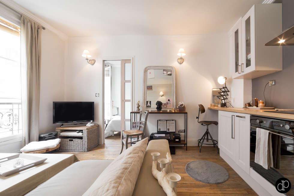 Boulevard haussmann – appartement 25m2: salon de style de style ...