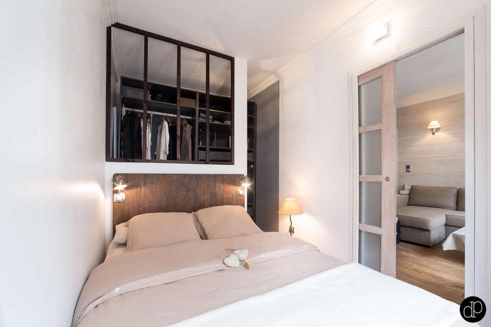 Boulevard Haussmann - Appartement 25m2: Chambre de style de style Moderne par Decoration Parisienne