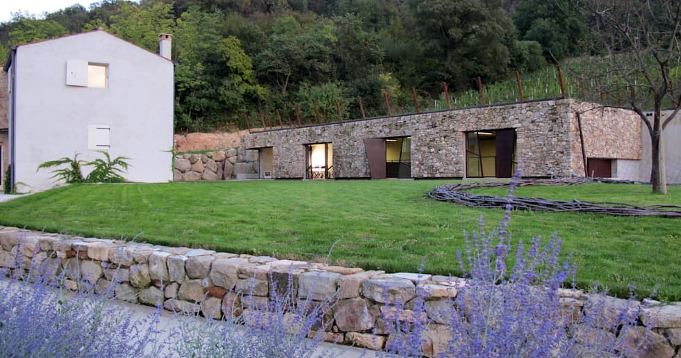 vista totale casa e cantina griswine: Cantina in stile In stile Country di GRISDAINESE
