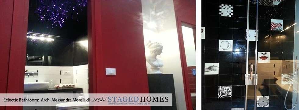 Bagno eclectic style: Bagno in stile in stile Eclettico di Staged Homes Italia