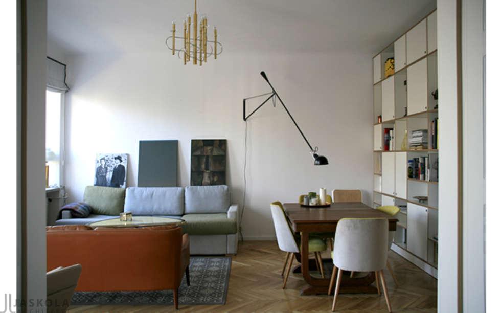 salon: styl , w kategorii Salon zaprojektowany przez JJJASKOLA ARCHITEKCI