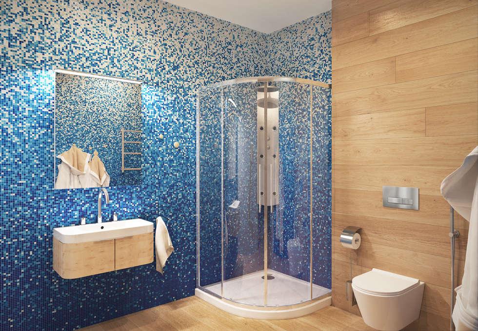 Гостевая ванная: Ванные комнаты в . Автор – ECOForma