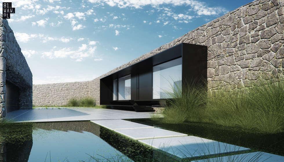 Dom Polny: styl nowoczesne, w kategorii Domy zaprojektowany przez 81.waw.pl