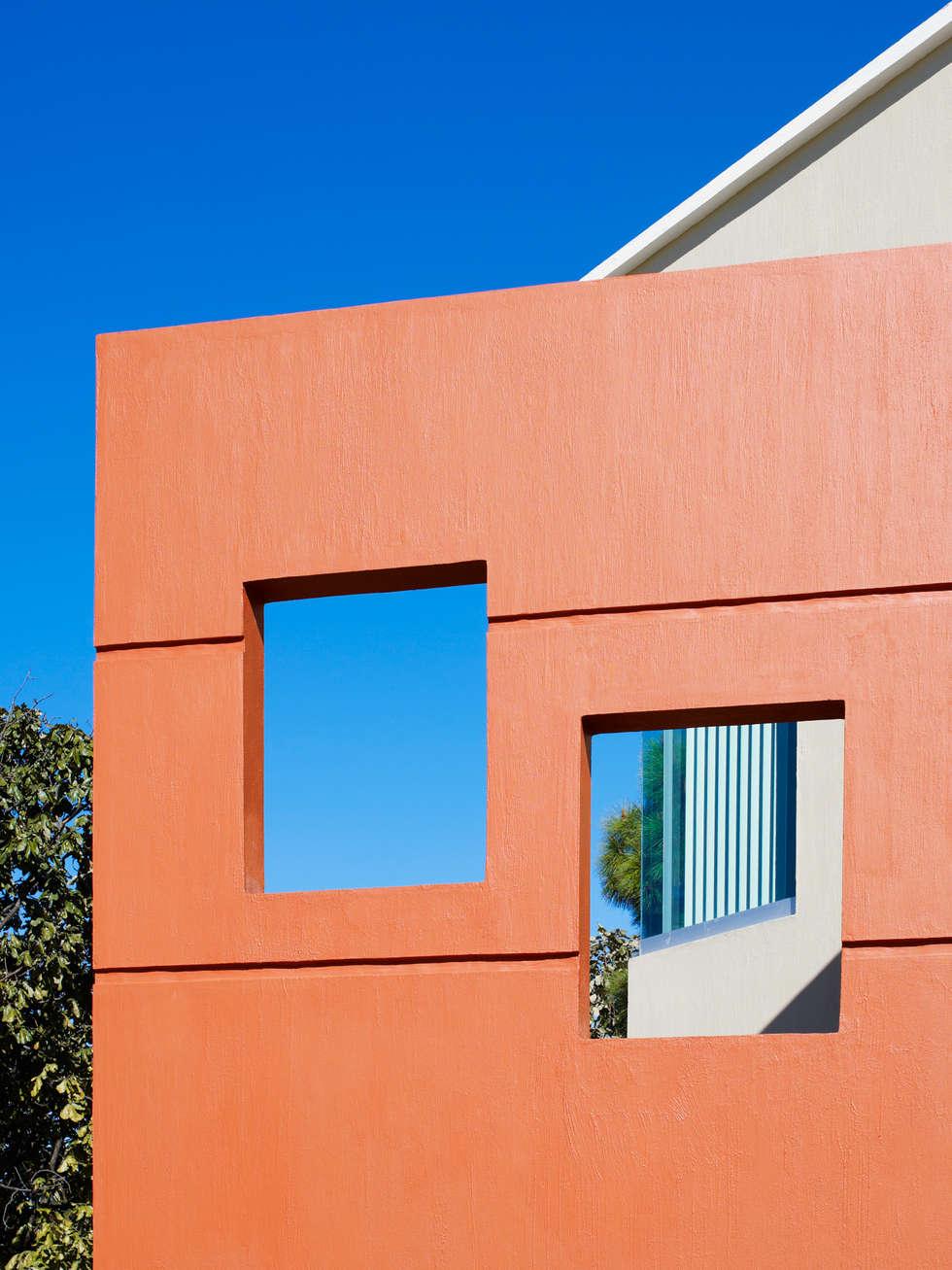 elemento a 45 grados: Casas de estilo moderno por Excelencia en Diseño