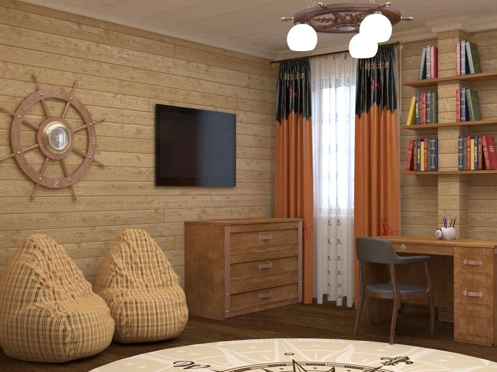 Детская спальня в пиратском стиле  : Детские комнаты в . Автор –  Лойе Ирина