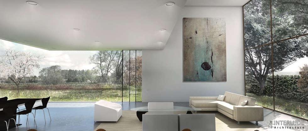 Vue intérieur: Salon de style de style Minimaliste par Interlude Architecture