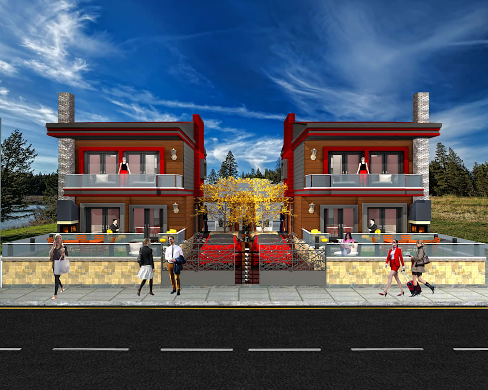 DETAY MİMARLIK MÜHENDİSLİK İÇ MİMARLIK İNŞAAT TAAH. SAN. ve TİC. LTD. ŞTİ. – Villa Project: modern tarz Evler