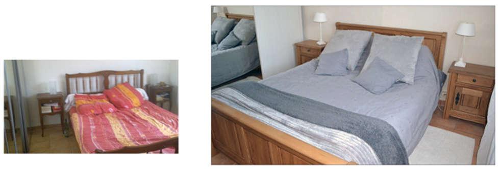 Chambre grise: Chambre de style de style Rustique par IDare D.SIGNS