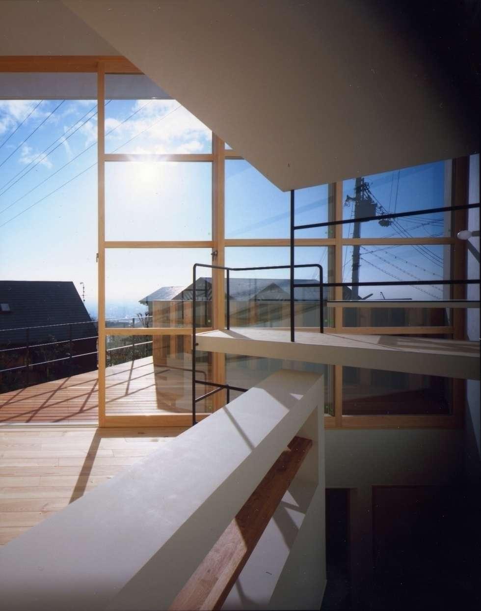目神山の家 - House of Megamiyama: 林泰介建築研究所が手掛けたベランダです。