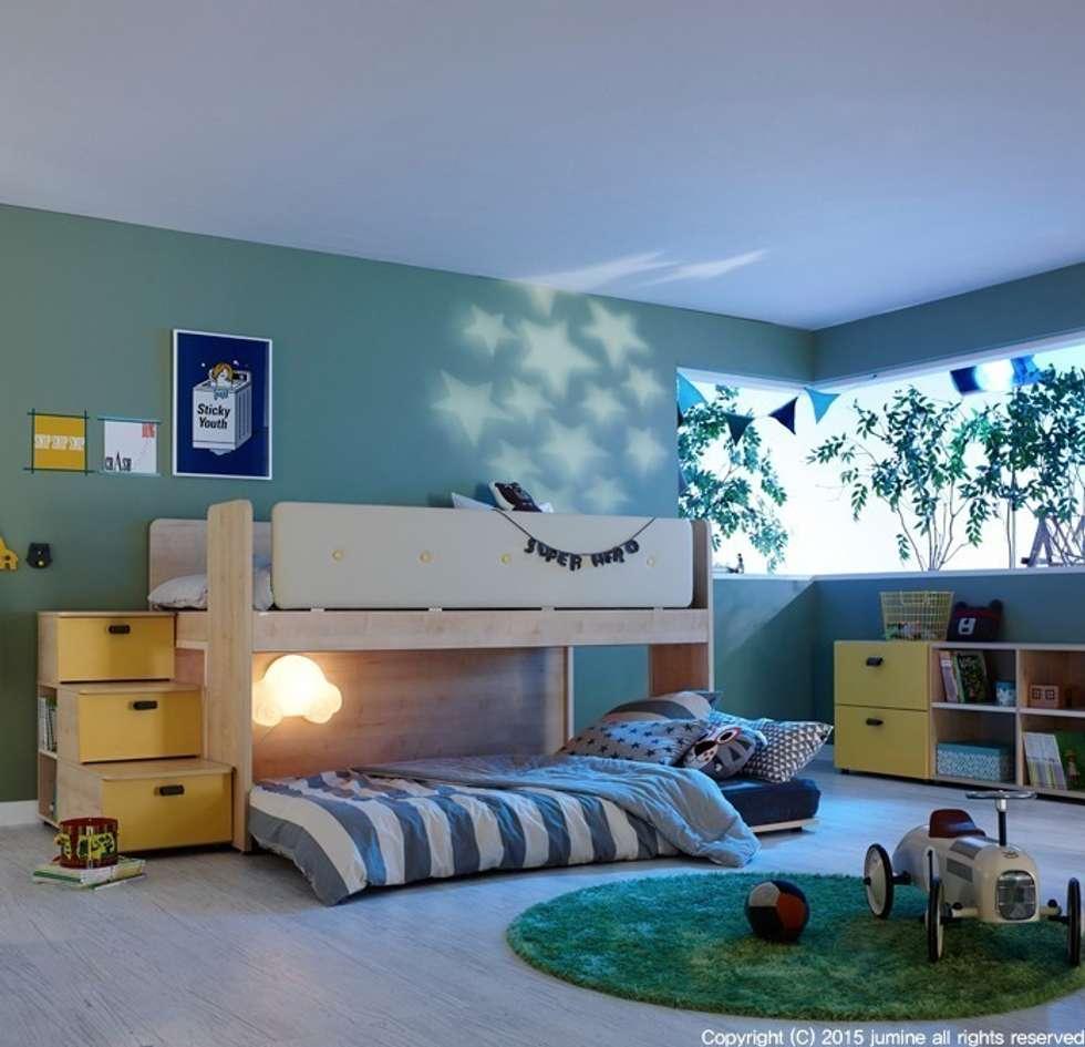 DOUBLE LINE BEDDING: jumine의  침실