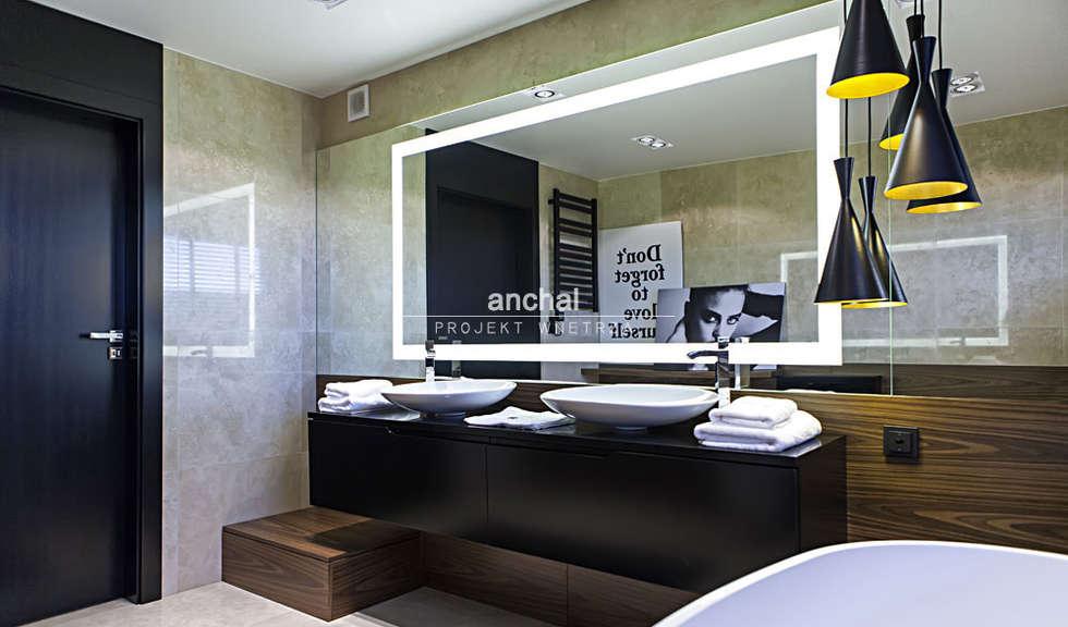 Łazienka : styl , w kategorii Łazienka zaprojektowany przez Anchal Anna Kuk-Dutka