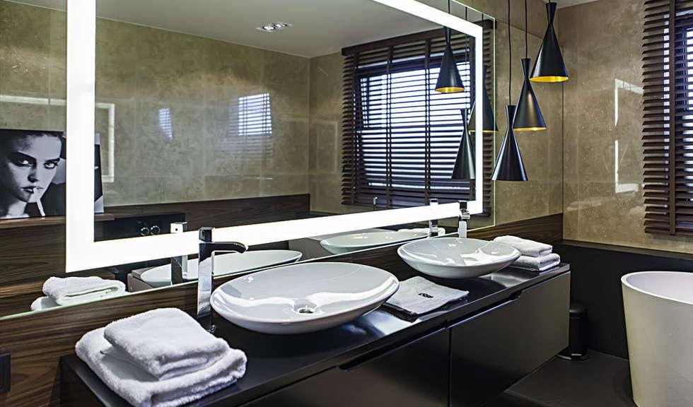 łazienka: styl nowoczesne, w kategorii Spa zaprojektowany przez Anchal Anna Kuk-Dutka