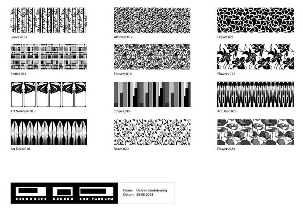 dessins lambriseringen:  Gezondheidscentra door Dutch Duo Design