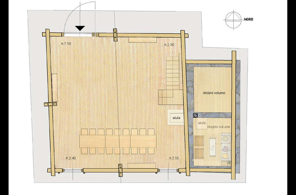 Finest pianta del piano primo ex fienile case in stile in for Esempio di progetto di casa