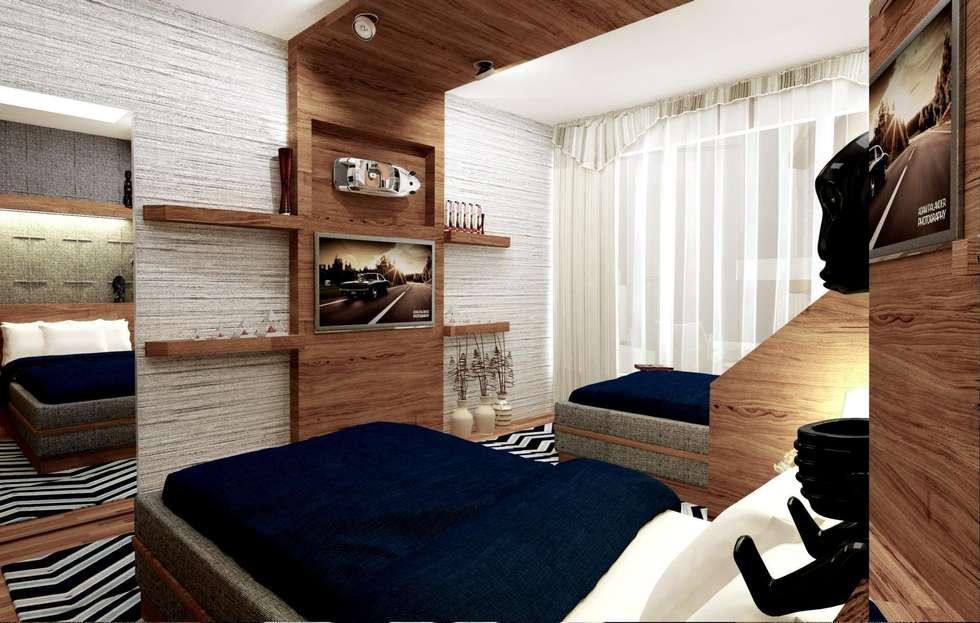 GN İÇ MİMARLIK OFİSİ – Genç Odası: modern tarz Çocuk Odası