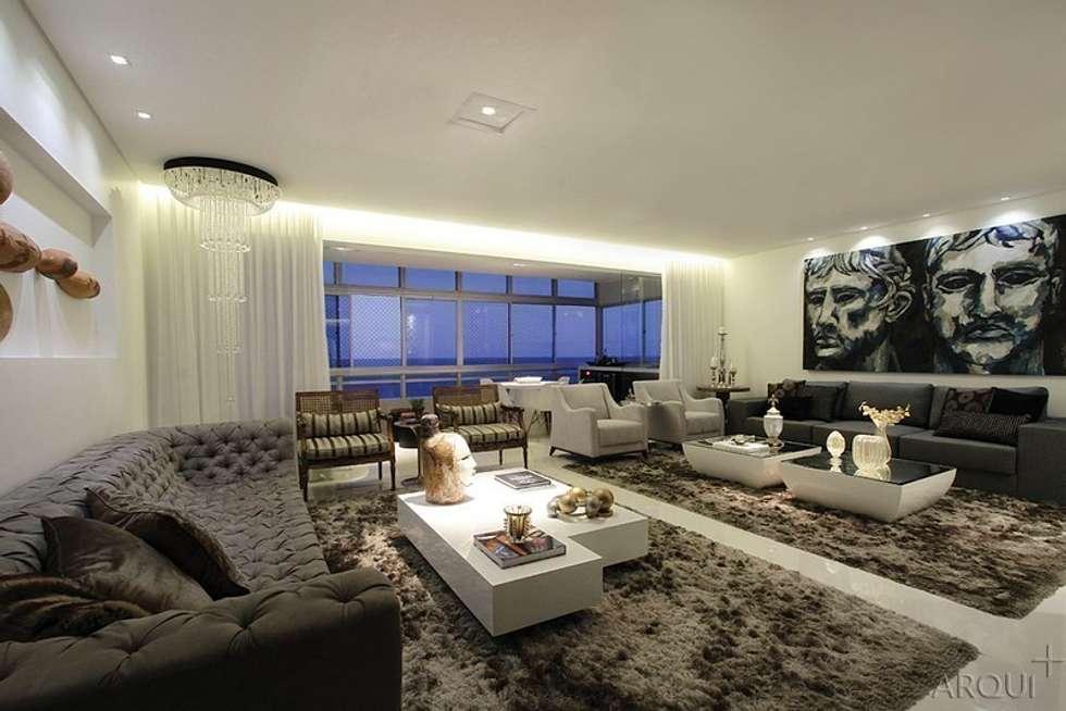 apartamento 290m² : Salas de estar clássicas por Tony Jordão arquitetura e interiores