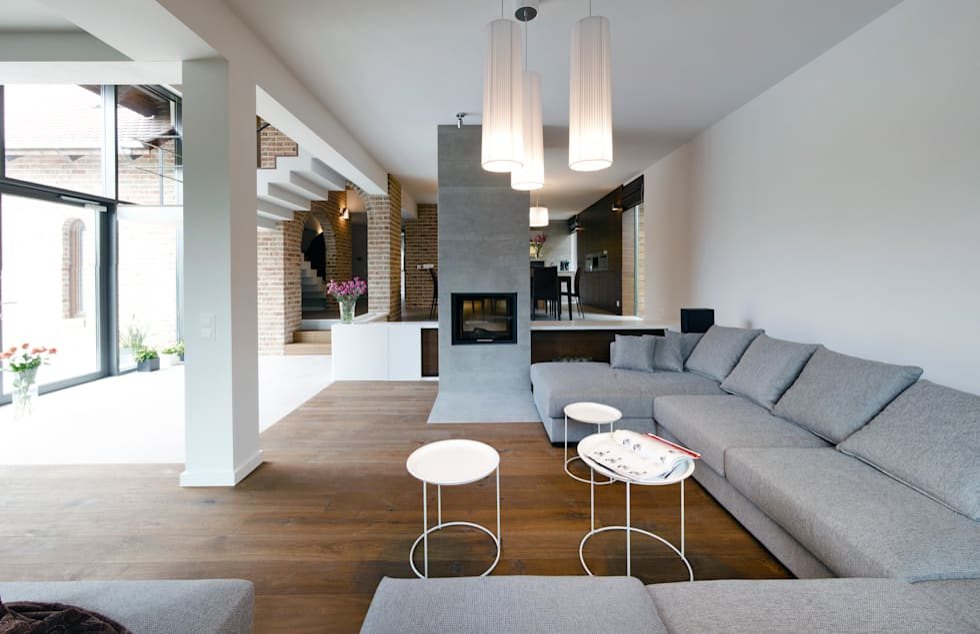 salon: styl , w kategorii Salon zaprojektowany przez Pracownia Świętego Józefa