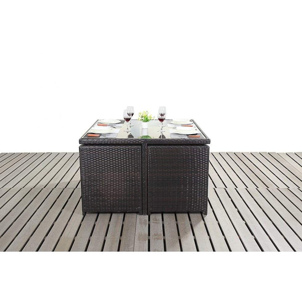 homify : Bonsoni Cube 4 Piece Includes a Glass Top Table Four armchairs With Extendable Back Rests and Four Footstools Rattan Garden Furniture 39 from www.homify.ir size 980 x 980 jpeg 71kB