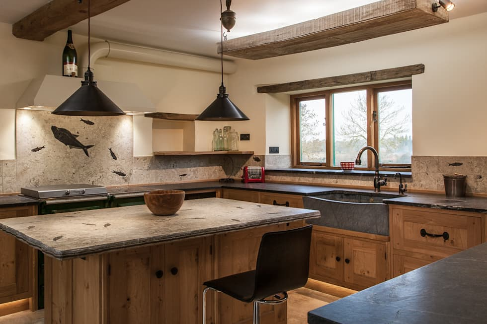 View from the Utility: eclectic Kitchen by PAN|brasilia UK Ltd
