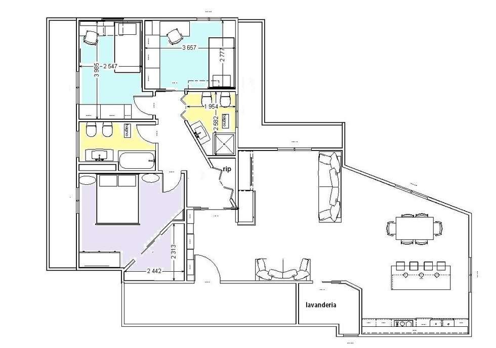 progetto ristrutturazione: Soggiorno in stile in stile Moderno di studio design d'interni Frigerio Lisa